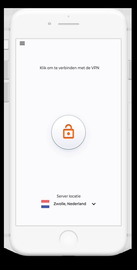 VPN Nederland App op apparaat